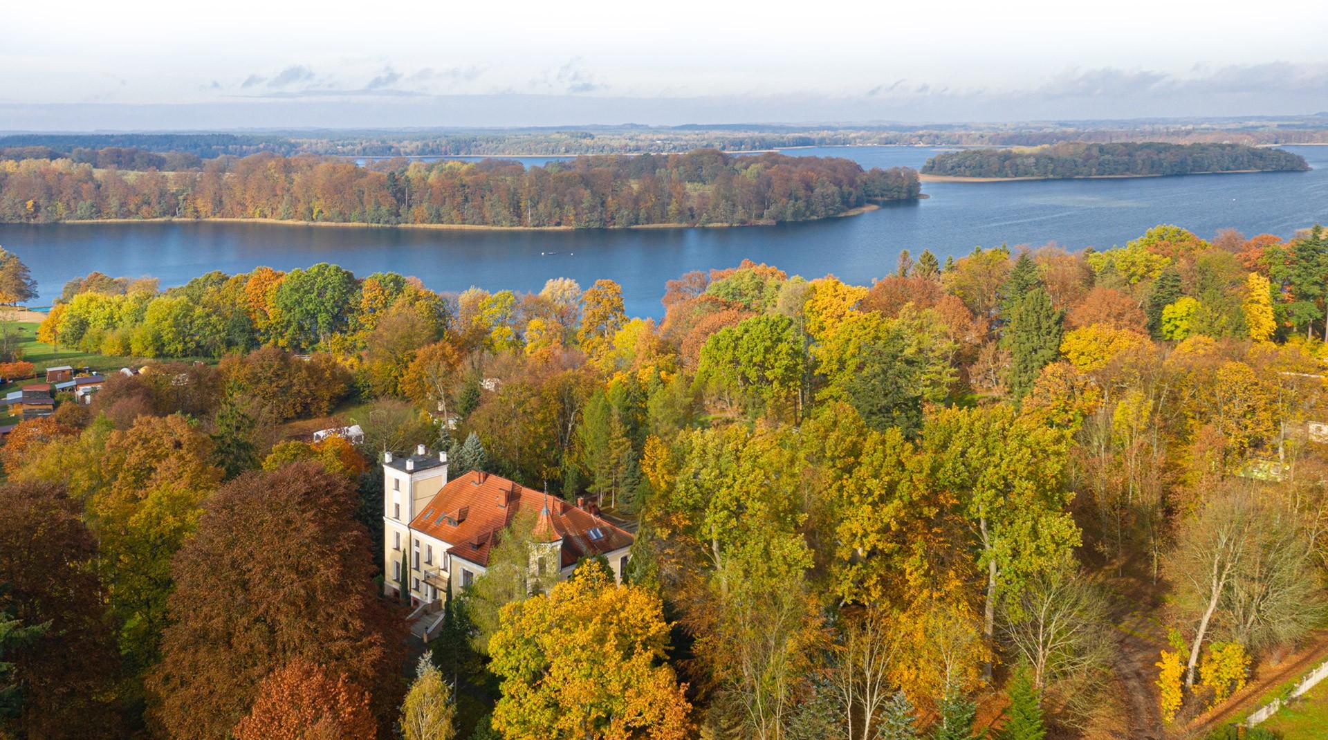 Zdjęcie zamku z góry